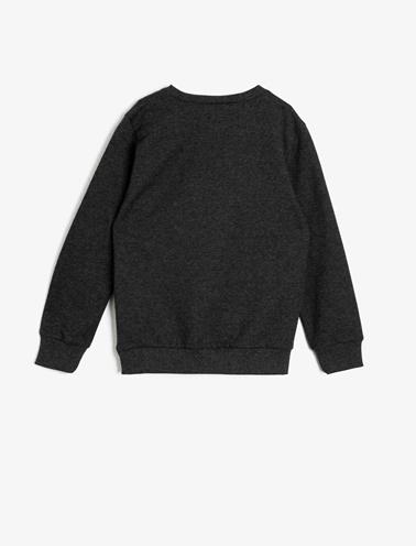Koton Kids Ben 10 Lisanslı Sweatshirt Gri